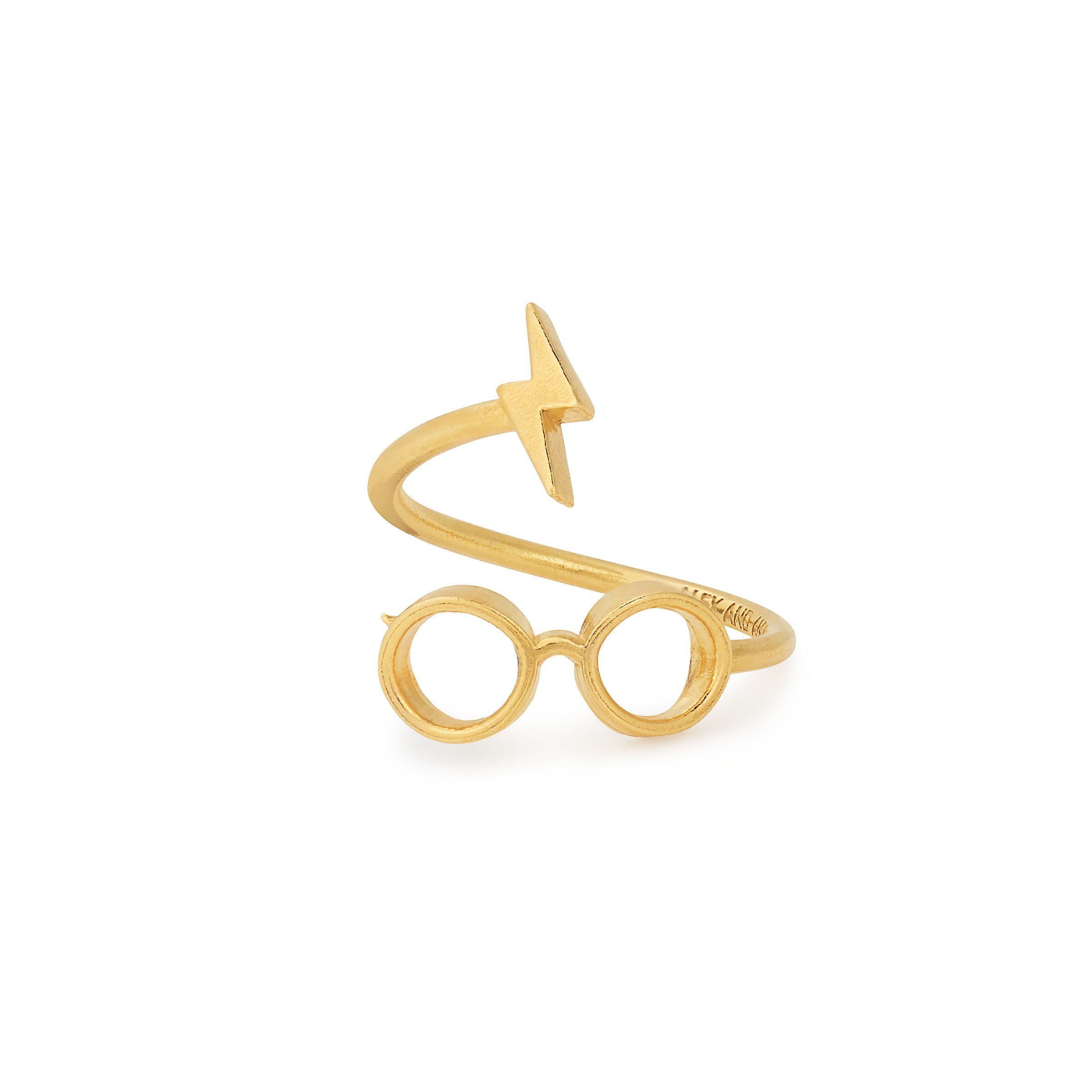 Alex and Ani Women's Harry Potter Glasses Ring Wrap 14kt Gold Plated One Size