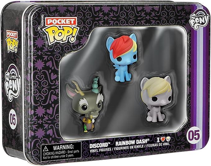 Funko – Pocket Pop: MLP 3 Pack Tin – Dash, Discord & Derpy: Funko Pocket Pop!:: Amazon.es: Juguetes y juegos