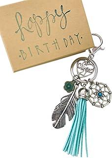 Amazon.com: Llavero de feliz cumpleaños, con texto en inglés ...