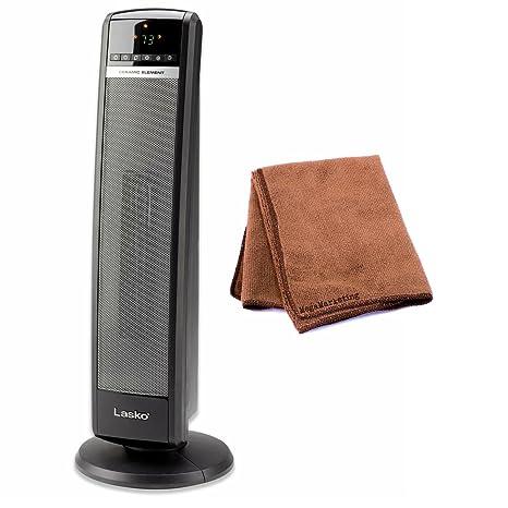 Amazon.com: Lasko 5538 calentador de torre de cerámica con ...