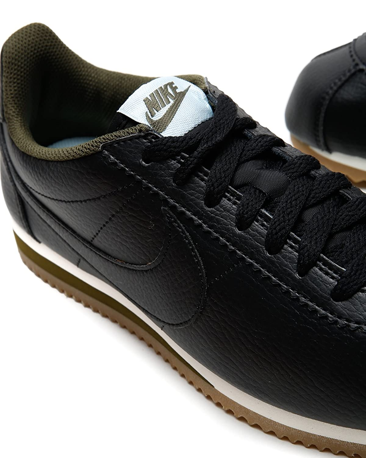 Womens NIKE CLASSIC CORTEZ LEATHER Black Trainers 807471 005: Amazon.co.uk:  Shoes & Bags