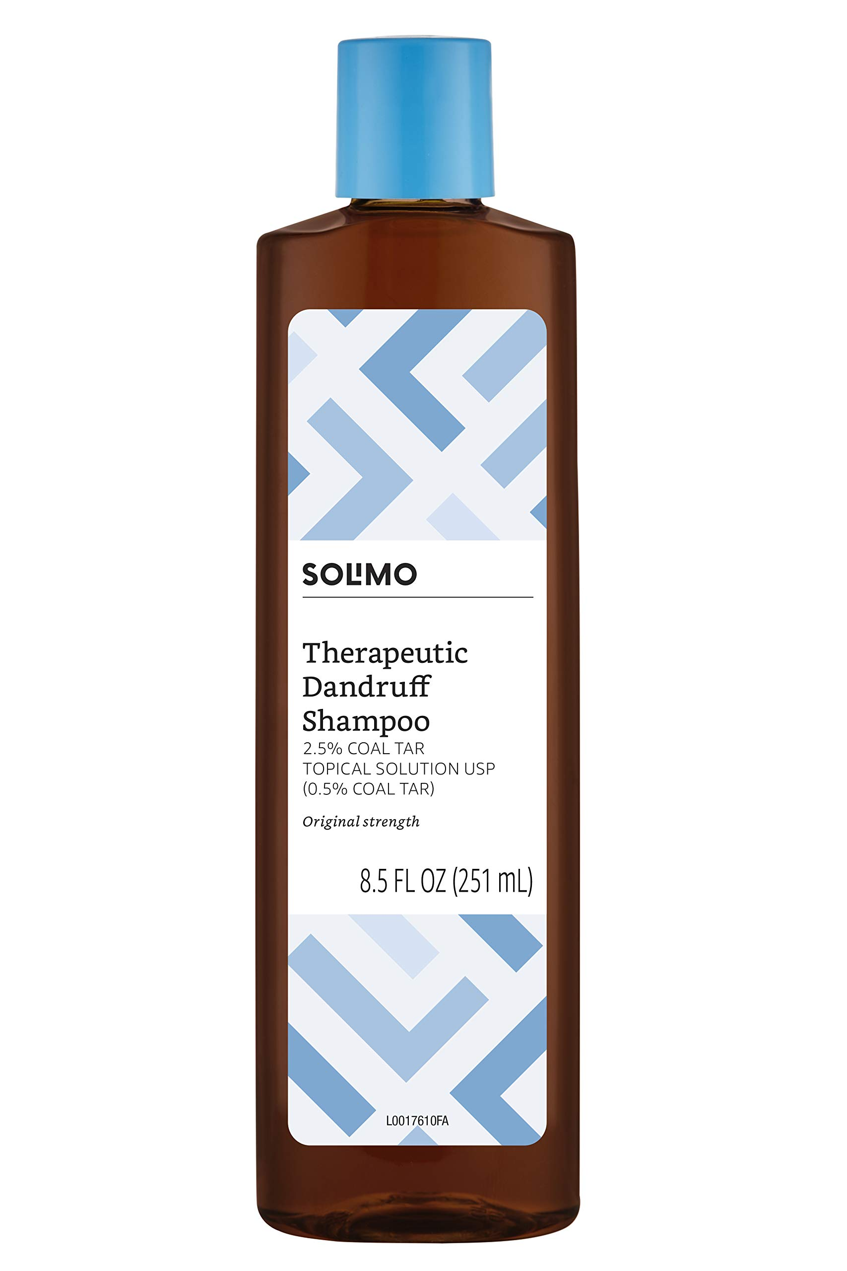 Amazon Brand - Solimo Therapeutic Dandruff Shampoo, Original Strength, 8.5 fl oz