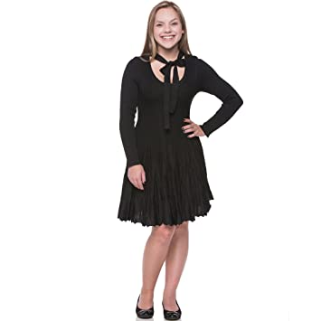 Amazon Lili Lace Womens Vintage Retro Flared Tea Dress Black
