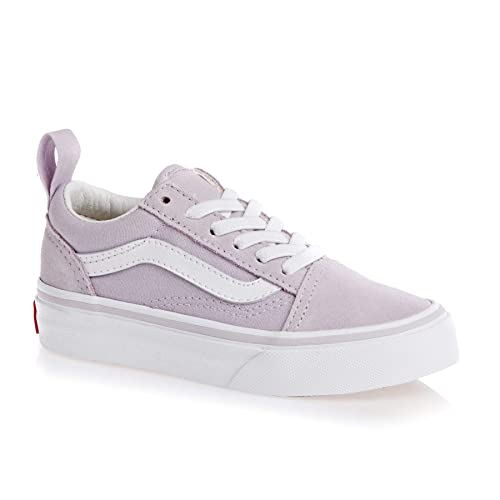 97063ac277d Vans Old Skool Elastic Lace Kids Shoes UK 12 (Jnr) Lavender Fog True White