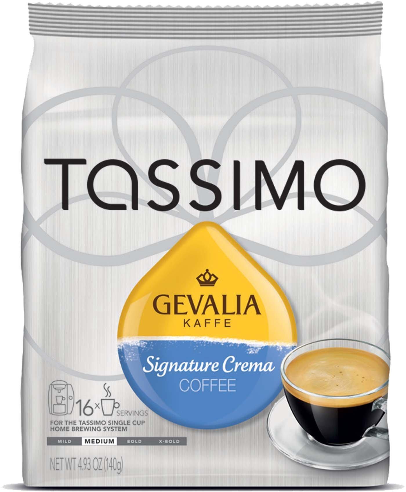 Tassimo Gevalia Kaffe Signature Crema Coffee T-Discs 3 pack (48 Count) by Gevalia