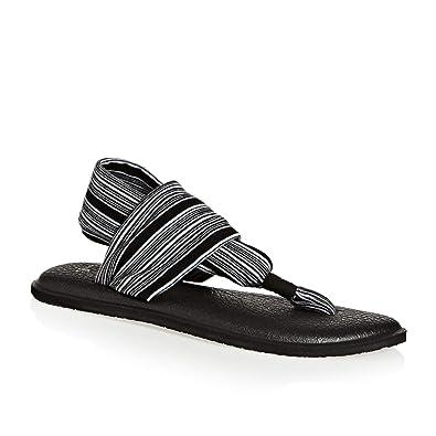 Amazon.com | Sanuk Womens Yoga Sling 2 Sandals - Black ...
