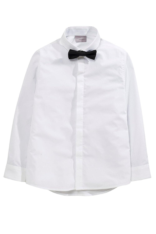next Niños Camisa Manga Larga Y Pajarita Corte Estándar Blanco 16 ...