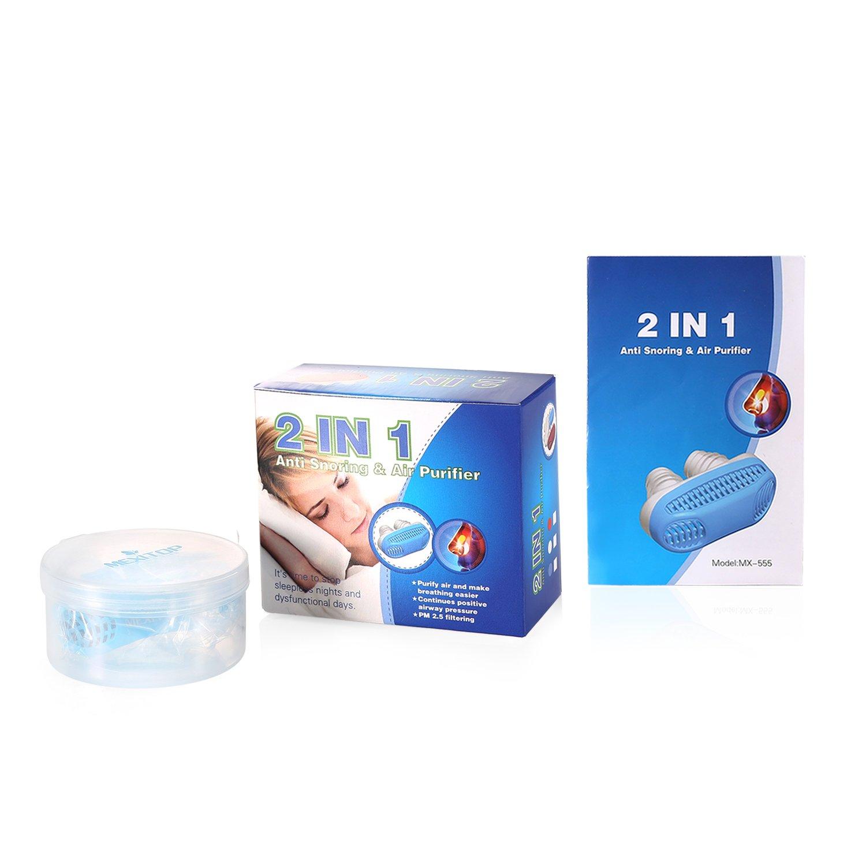MEXITOP Dilatador Nasal Anti Ronquidos, Ayuda Instantánea para Aliviar Naturalmente los Ronquidos y Mejorar la Respiración, Silicona Suave, Purificación del ...