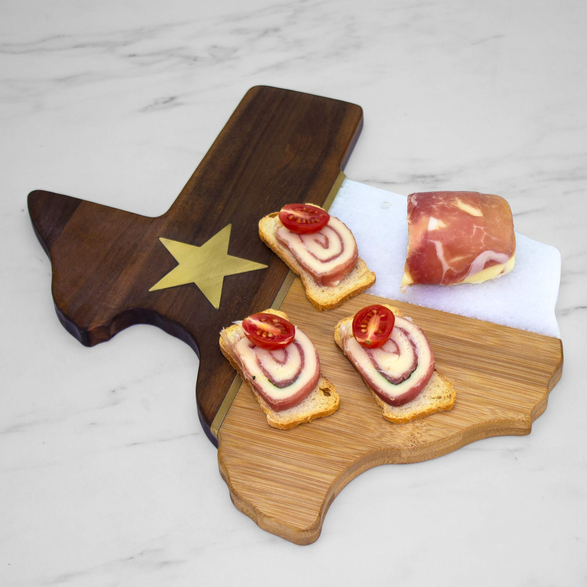 Totally Bamboo Rock & Branch Series Republic of Texas State Shaped Serving Board by Totally Bamboo (Image #4)