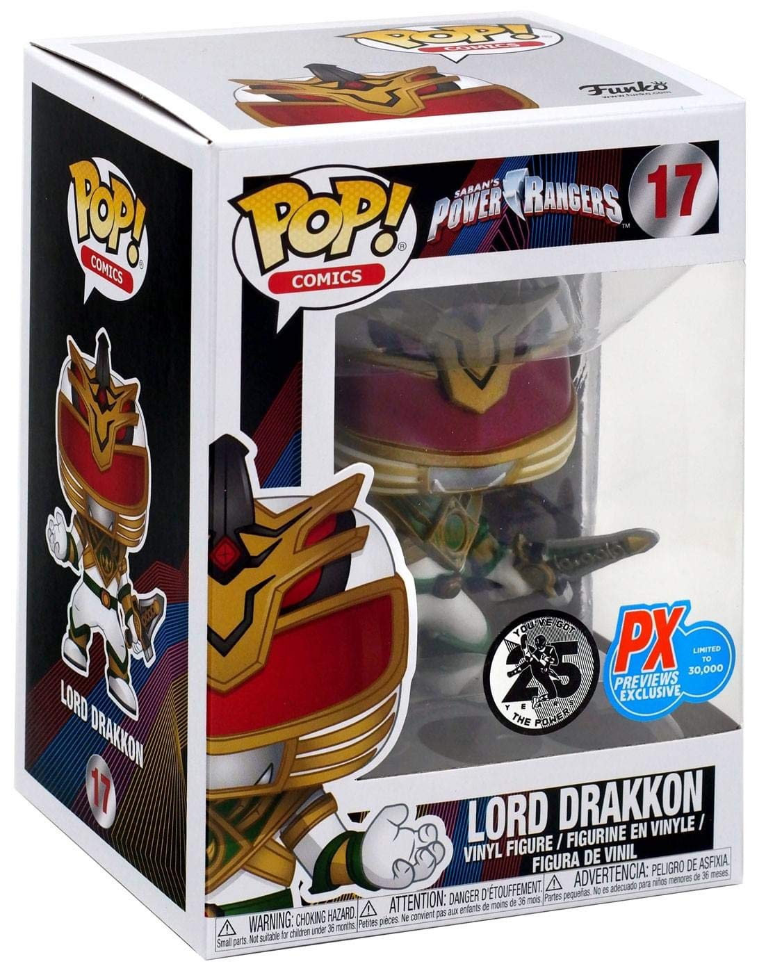 Power Rangers #17 Funko Pop! Lord Drakkon #17 Rangers (PX Previews Exclusive) 32f8cc