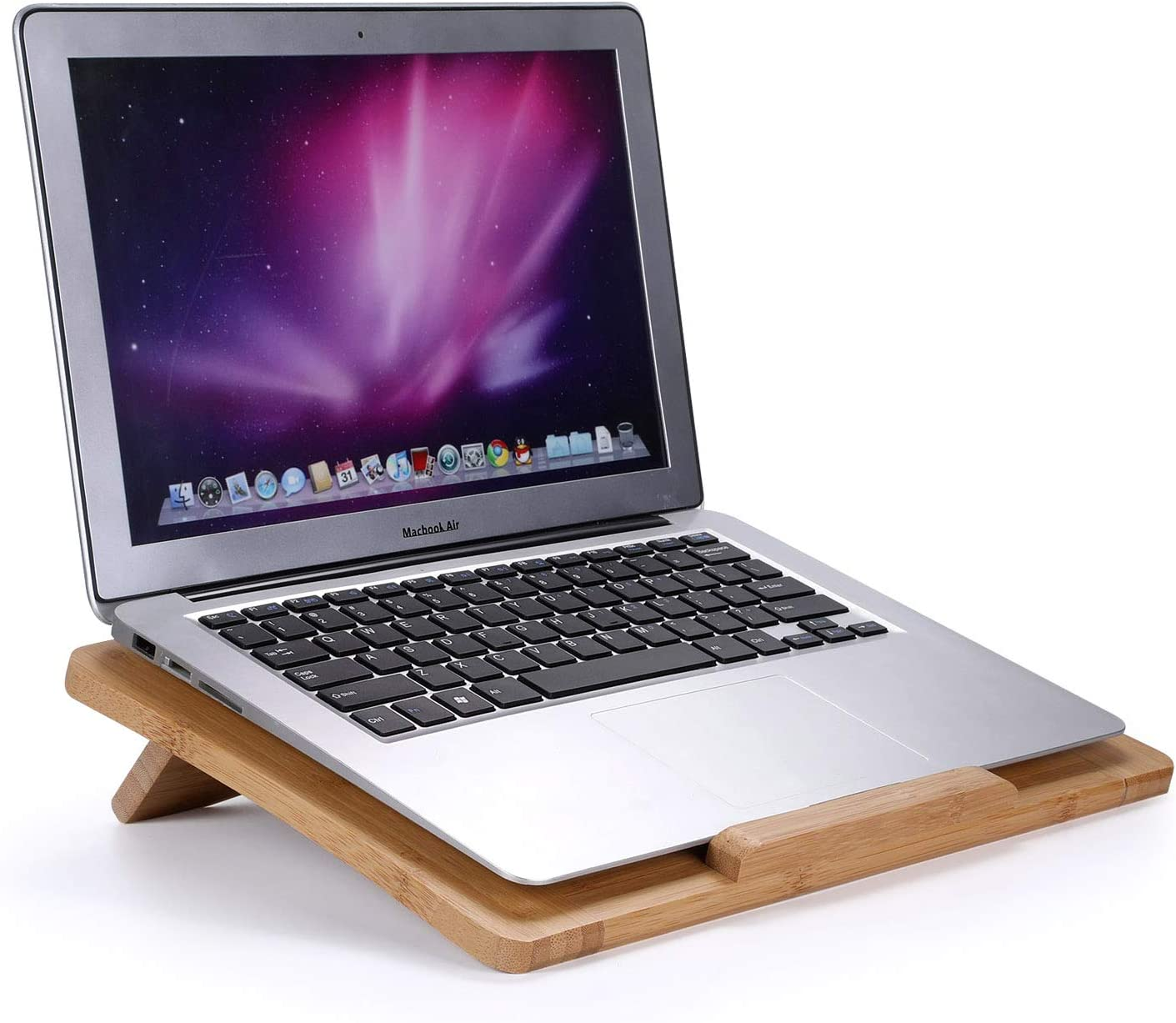 Lenovo between 10 and 15 inches Komost Laptop Computer Stand Bamboo Desktop Laptop Holder Stand with Foldable Bracket for Macbook Air Pro Dell