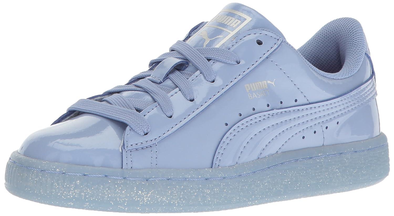 check out 06e0d 2e46f PUMA Kids' Basket Patent Iced Glitter PS Boat Shoe