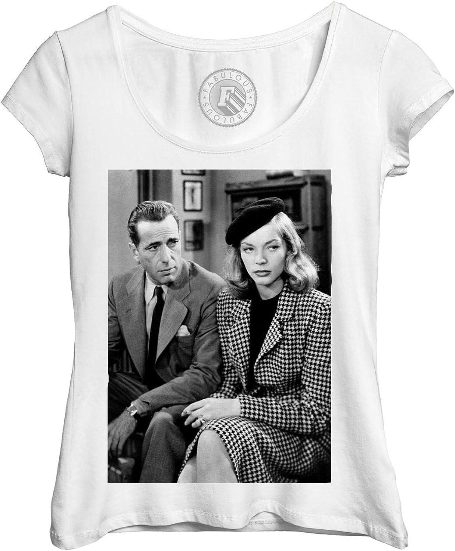 T Shirt Woman Photo Of Stars Famous Humphrey Bogart And Lauren Bacall Cast Old Cinema Original Amazon Co Uk Clothing