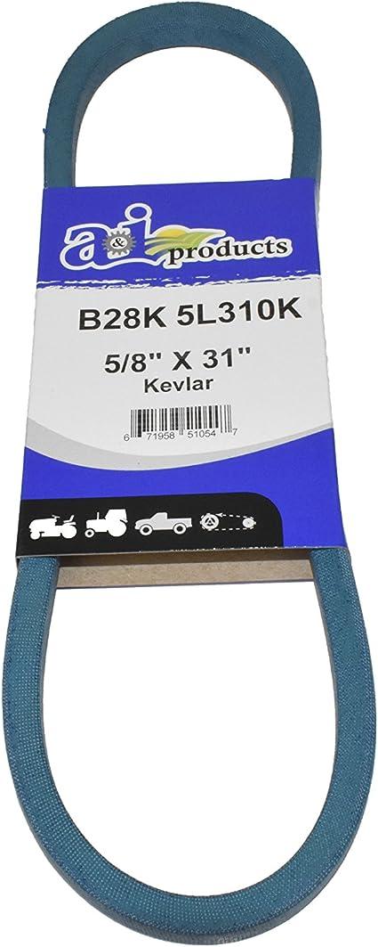 """B22K B-SECTION MADE WITH KEVLAR 5//8/"""" X 225/"""" V BELT BLUE"""