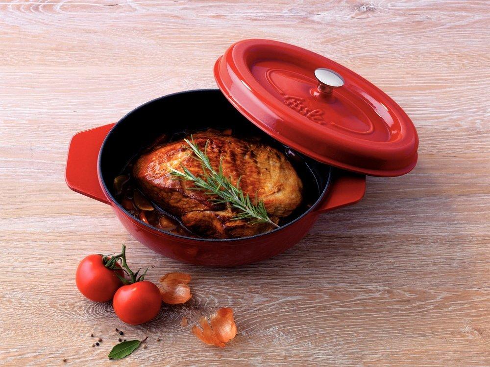Fissler Arcana 6971519000 Casserole Pot Cast Iron 19 cm Round Red