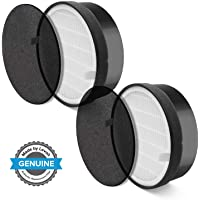 LEVOIT LV-H132 Air Purifier Replacement Filter, 3-in-1 Nylon Pre-Filter, True HEPA Filter, High-Efficiency Activated Carbon Filter, LV-H132-RF, 2 Pack,Black