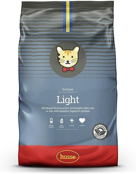Husse - Exclusive Light 7 Kg   Pienso Gatos   Sabor Pollo y Pescado   Prevención Bolas de Pelo y Malos Olores Ingredientes: Amazon.es: Productos para mascotas
