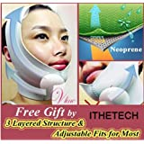 [MADE in KOREA] Anti-aging Wrinkle Free UPLIFT Face Mask Belt ** Brand New Innovative Advanced High Technology ** Only 30~40 minutes wearing to tighten up the face and neck, for lifting up and minimizing the face & neck line. [GRAY] by ANALEX