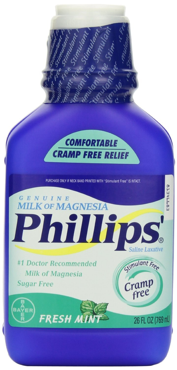 Amazon.com: Phillips Fresh Mint Milk of Magnesia Liquid, 2 Count: Health & Personal Care