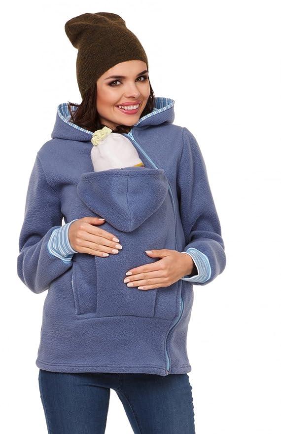 Zeta Ville - Sudadera Capucha portabebé Bolsillo Funcional - para Mujer - 032c: Amazon.es: Ropa y accesorios