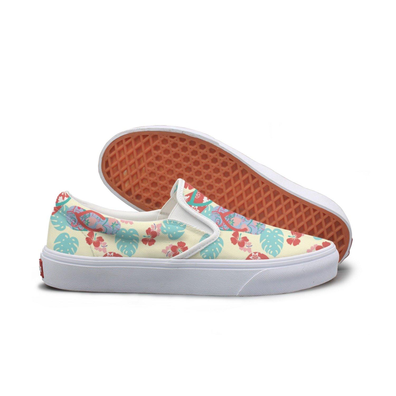 SEERTED Flower and Red Flip Flops Casual Sneakers Width for Women Wide Width Sneakers B07D9J2XRR Fashion Sneakers 1f95f0