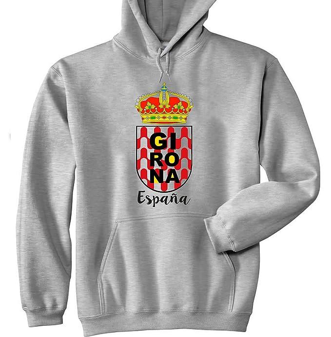 teesquare1st GIRONA Spain Sudadera con Capucha: Amazon.es: Ropa y accesorios