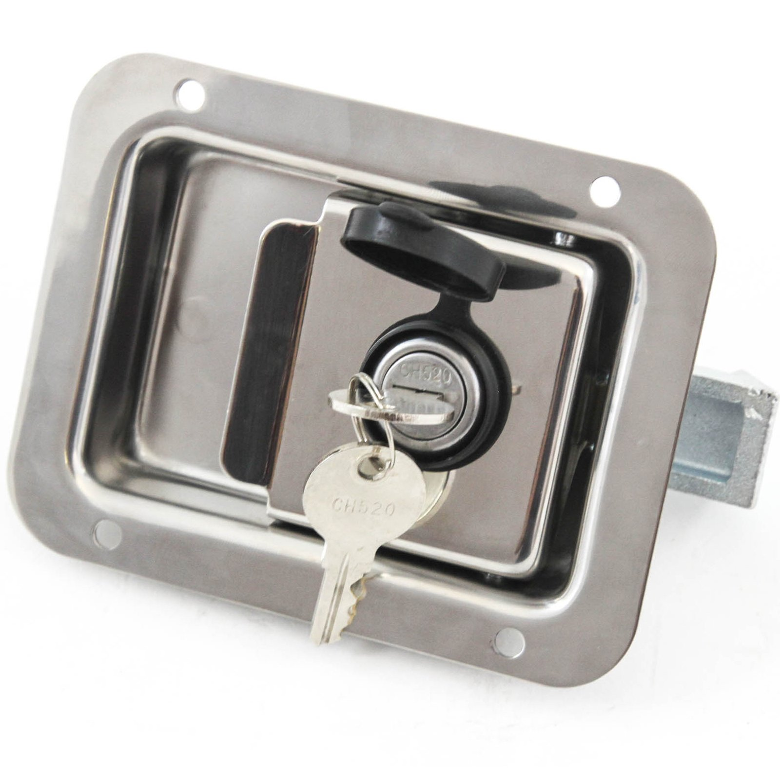 Red Hound Auto Stainless Door Lock Trailer Toolbox Handle Latch 4-5/8'' 3-5/8'' Paddle Key Cover