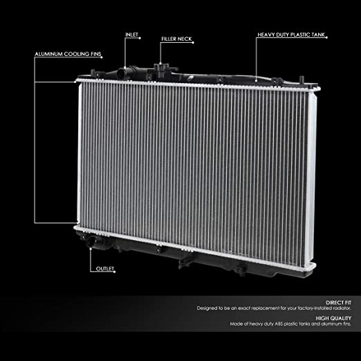 DNA MOTORING OEM-RA-13039 13039 Aluminum Core Radiator for 09-16 Nissan Murano//Quest
