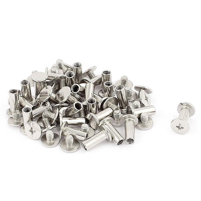 Sourcingmap/® 1,5/33/mm Edelstahl R geformter Splinte Clip Pin Silber Ton 50