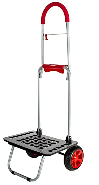 b590a3e23589 dbest products Bigger Mighty Max Personal Dolly, Red Handtruck Cart  Hardware Garden Utilty