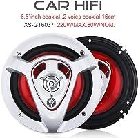 2pcs 16,5cm 220W Car HiFi Enceinte de Porte de véhicule Auto Audio Musique stéréo Gamme complète de fréquence Haut-parleurs pour Voitures