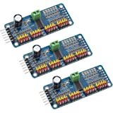 Onyehn 16 Channel PWM Servo Motor Driver PCA9685 IIC Module 12-Bit for Arduino Robot or Raspberry pi(Pack of 3pcs)