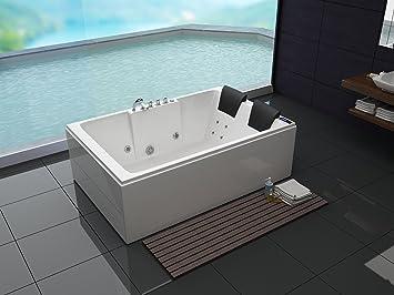 luxus whirlpool badewanne 180x120 in vollausstattung massage sonderaktion