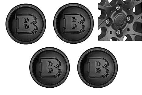 Smart 453 Fortwo Forfour Juego 4 St brabus Buje Tapa en negro