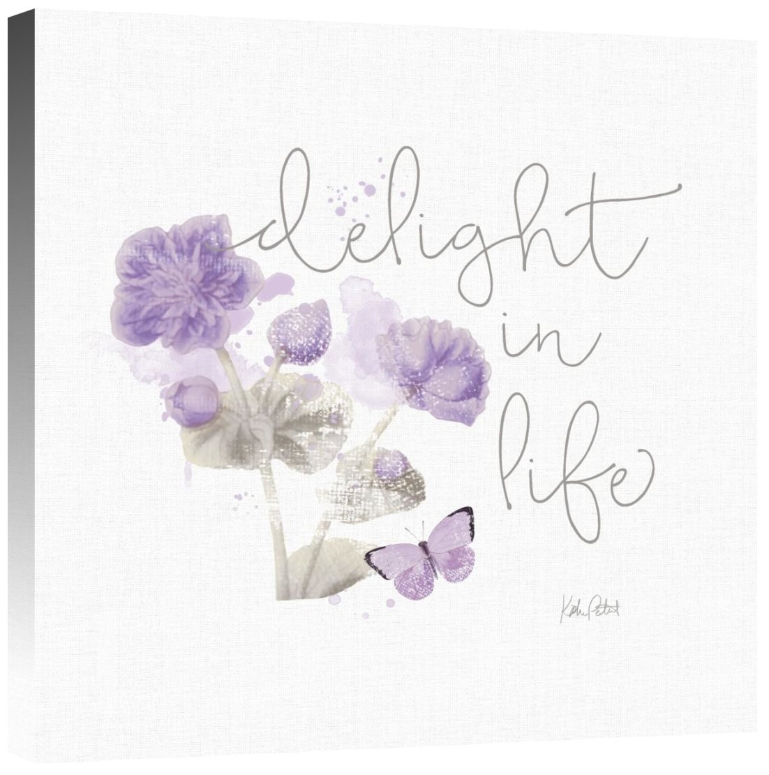 Global Gallery Katie Pertiet Sunny Day VI Purple Giclee Stretched Canvas Artwork 24 x 24
