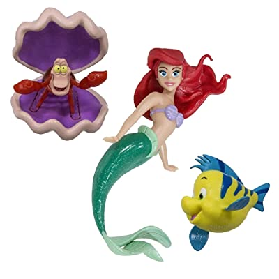 "Set of 3 Disney Princess Ariel Dive Characters Swimming Pool Toys 5.75"": Toys & Games [5Bkhe0405903]"