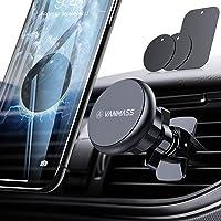 VANMASS Handyhalter fürs Auto Magnet Kfz Handy Halterung 6 Magnete Lüftung Superstarke Magnetkraft mit 3 Metallplatte Magnetische Auto Handyhalterung 360° Drehbar für iPhone iPad Samsung Huawei usw