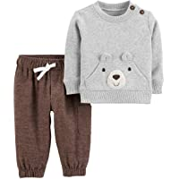 Carter's 2-Piece Bear Fleece Pullover & Flannel Pant Set Size Newborn