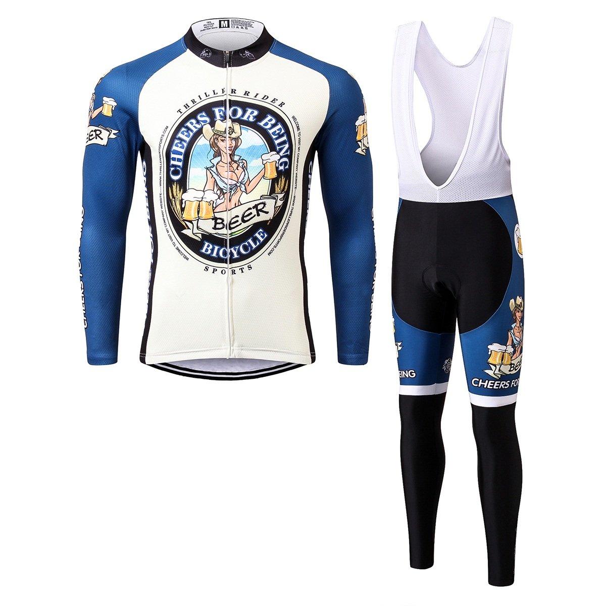 Thriller Rider Sports® Herren Cheers for Being Sport & Freizeit MTB Fahrradbekleidung Radtrikot 4 Farbes