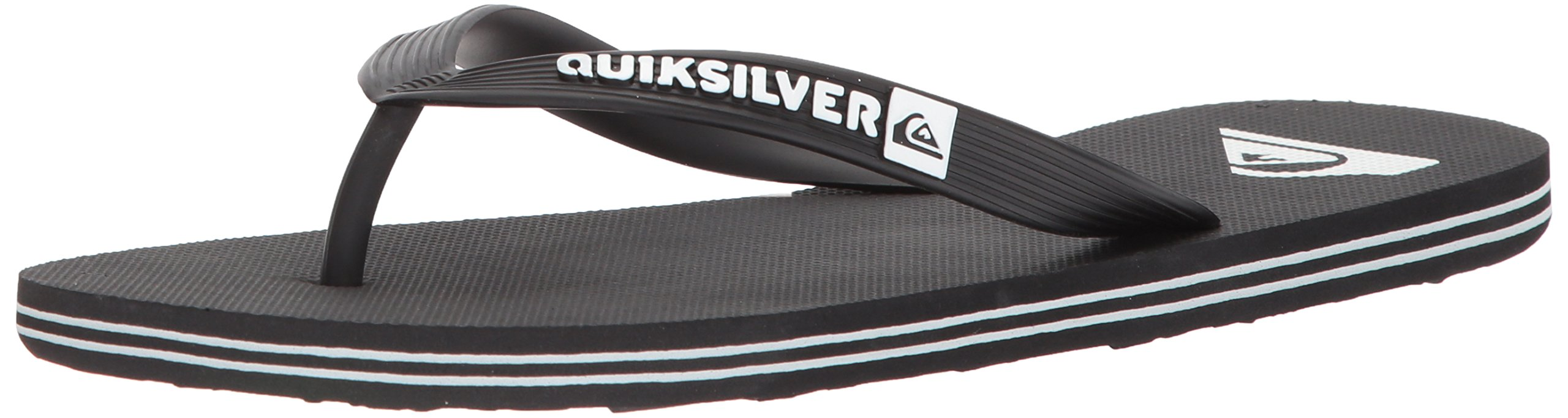 Quiksilver Men's Molokai Sandal Black/White, 10 M US