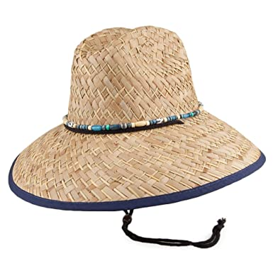 6ef88d06f2a Dorfman Pacific Hats Lifeguard Rush Straw Sun Hat - Navy Blue 1-Size ...