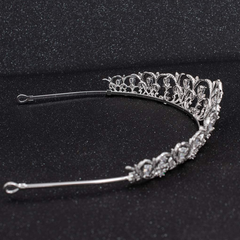 Accessoires de cheveux CH10120 Pour femme Diad/ème de mariage en argent avec zircone cubique