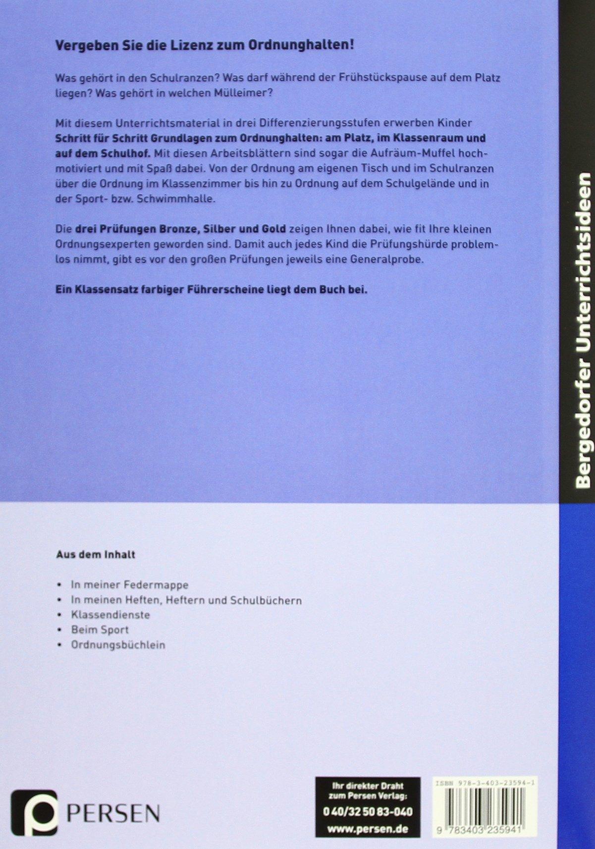 Der Ordnung-halten-Führerschein: 9783403235941: Amazon.com: Books