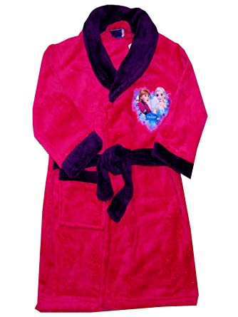 Amazon.com: Disney Frozen Girls Fleece Dressing Gown Robe Age\'s 3-8 ...