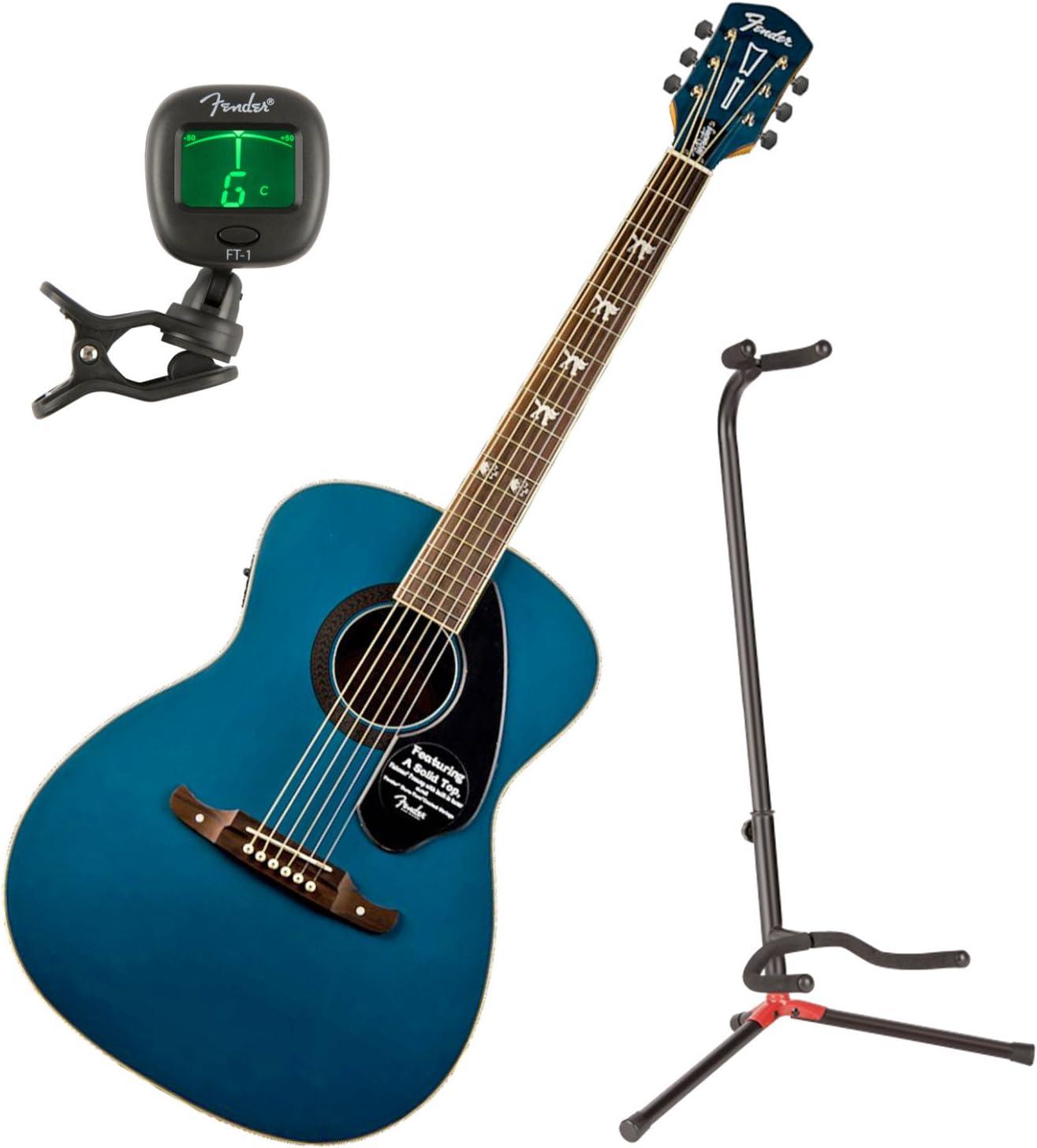 Fender 0971752027 Tim Armstrong Hellcat Sapphire guitarra acústica w/stand y sintonizador: Amazon.es: Instrumentos musicales