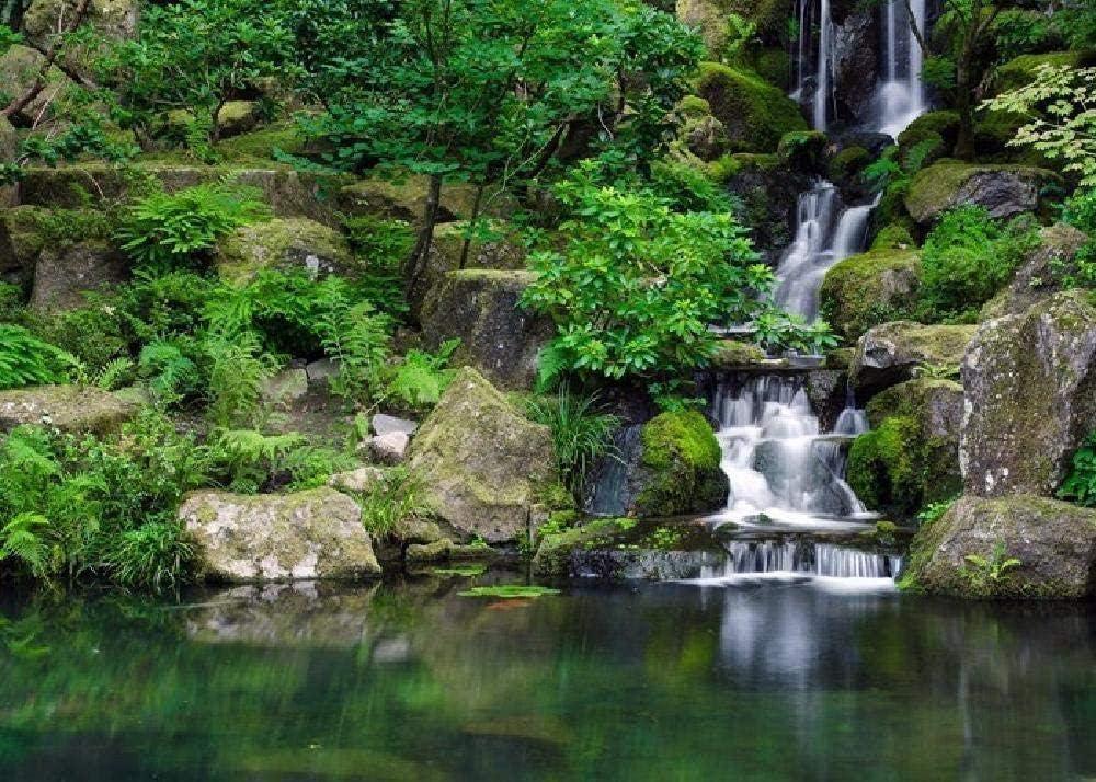 ASWETOTG Nuevo HD Garden Park Waterfall Stone 500 Puzzle Rompecabezas de Juguete Educativo para niños Rompecabezas de descompresión para Adultos
