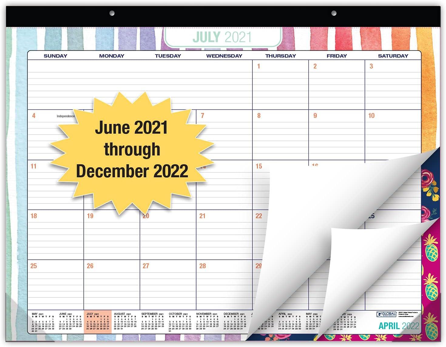 Desk Calendar 2021-2022: Large Monthly Pages - 22