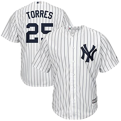timeless design 0c152 f9ca2 Outerstuff Gleyber Torres New York Yankees #25 White Youth Cool Base Home  Replica Jersey