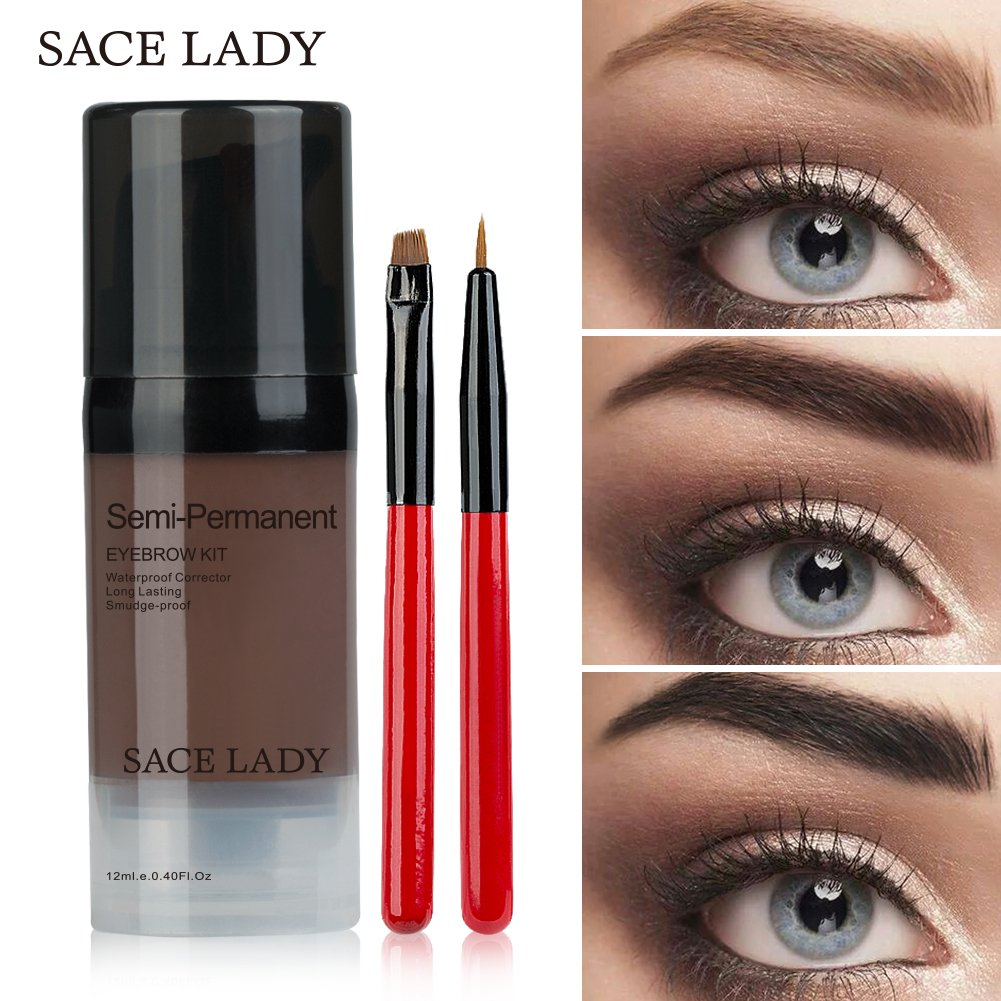 LADY Tintes para Cejas Permanentes de Maquillaje Natural Colores de Cejas  en Crema Geles Líquido para 2deafef6286d