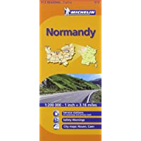 Normandy Michelin Regional Map (Michelin National Map)